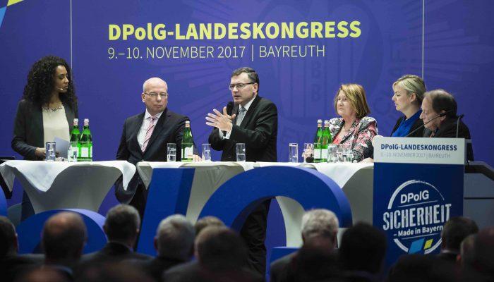 Podiumsrunde Landeskongress Deutsche Polizeigewerkschaft 2017 Bayreuth