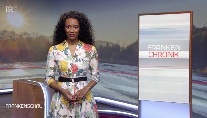 Moderatorin Anne Chebu BR Frankenschau